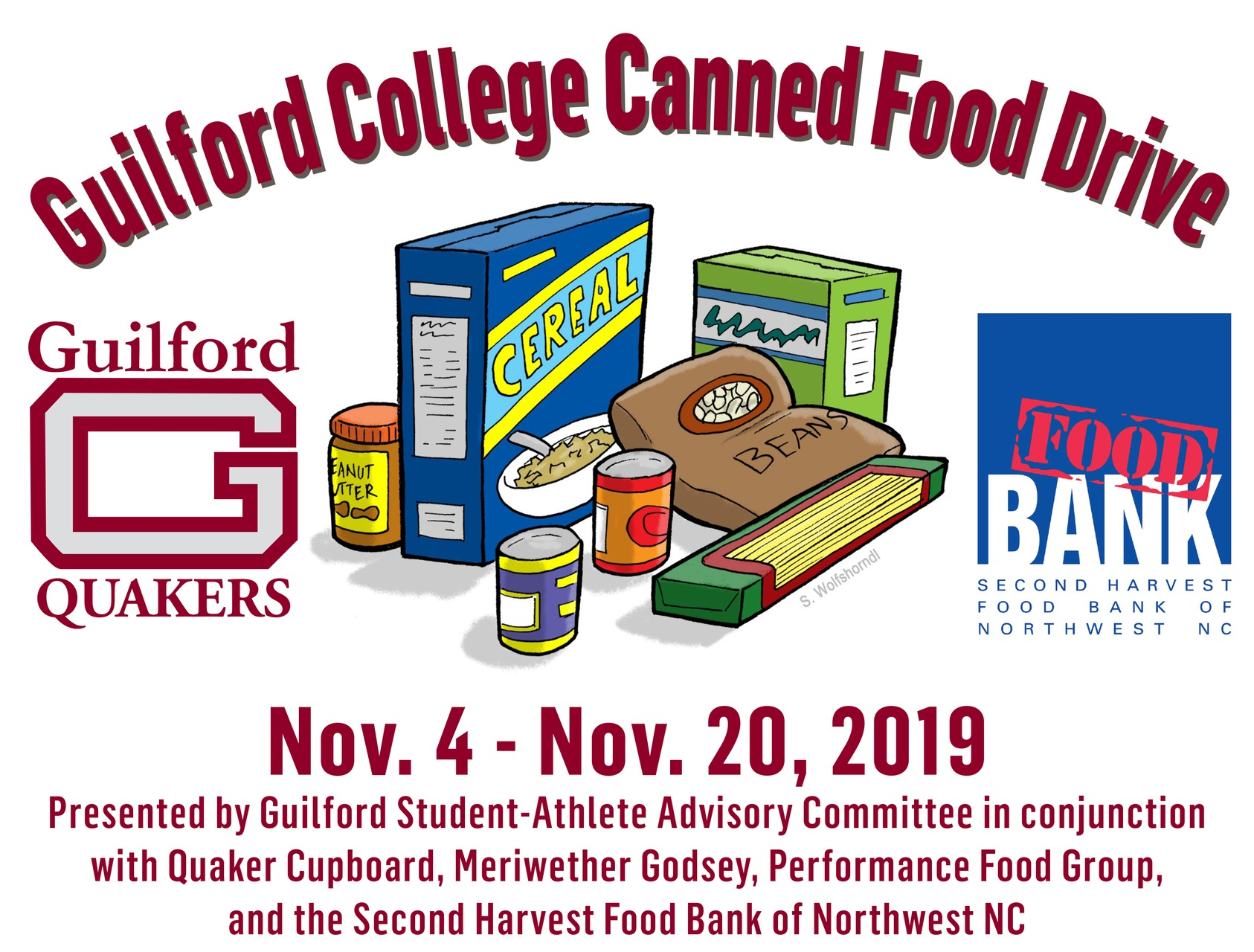 Guilford College Canned Food Drive is Underway