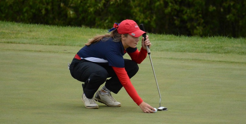 Emily Barker had the low round on Saturday for the SVSU women...