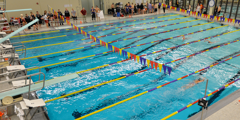Saturday's swimming dual moved up one hour