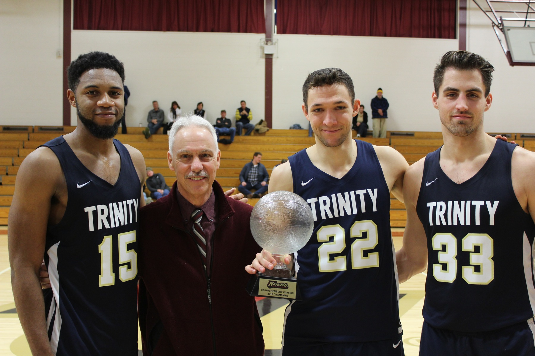 Men's Basketball: Bantams withstand Cadets comeback bid, win Hockenbury Championship 66-59