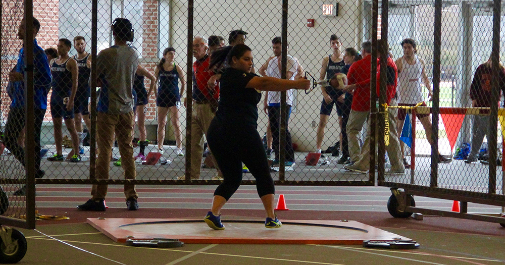 Galeano Wins Weight Throw at George Mason Patriot Games