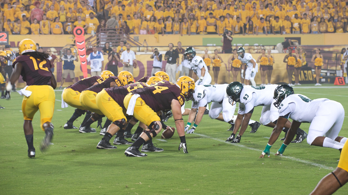 FOOTBALL STUMBLES IN LOSS AT ARIZONA STATE