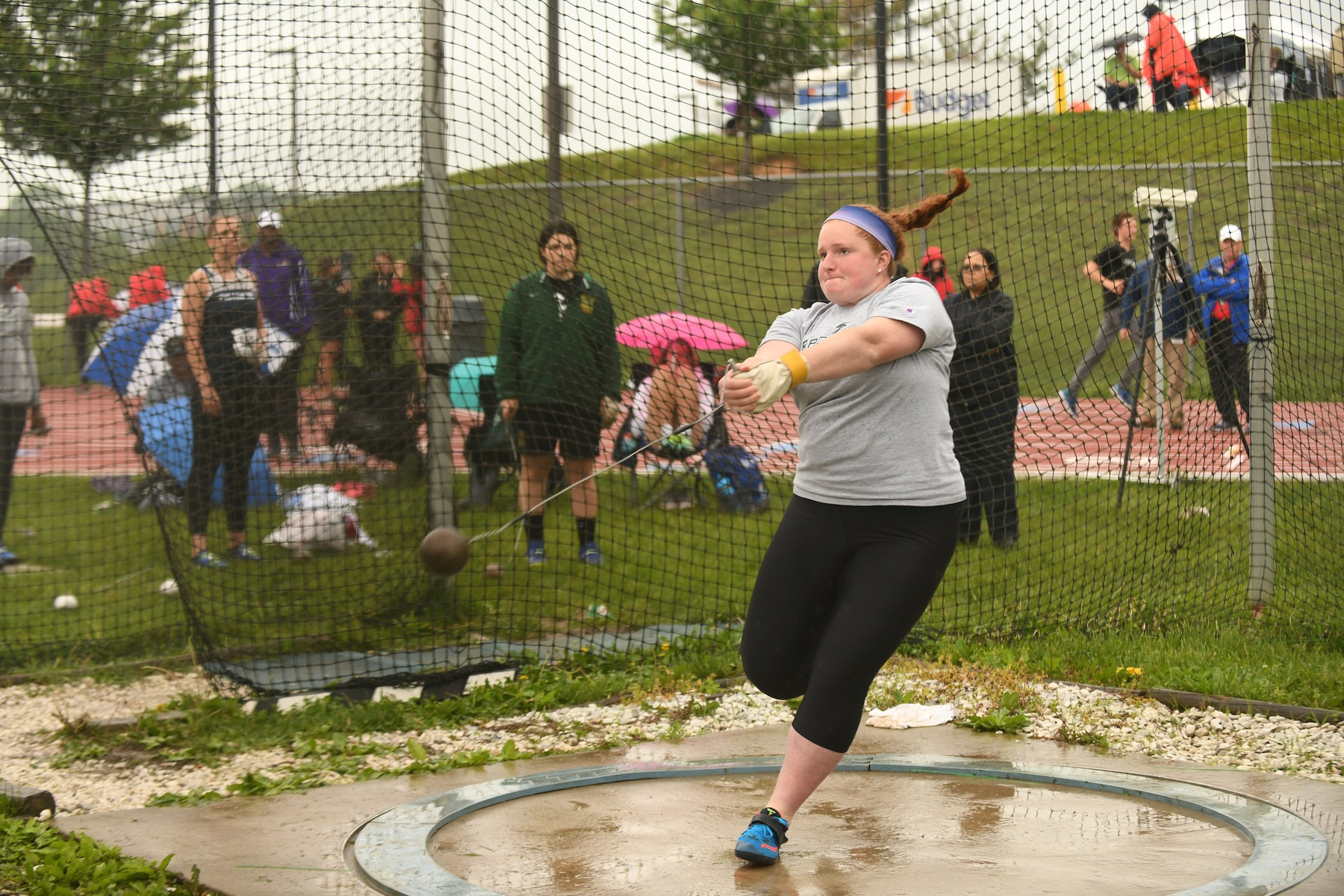 Rega Takes Eighth in Shot Put at Fasttrack Invite