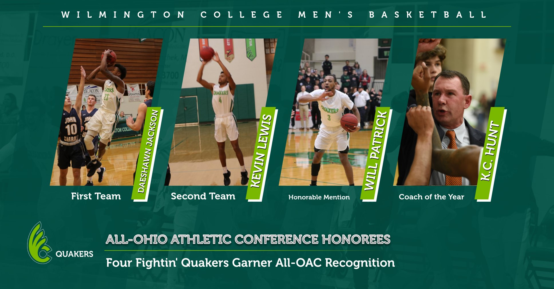 Men's Basketball Places Four on All-OAC Teams