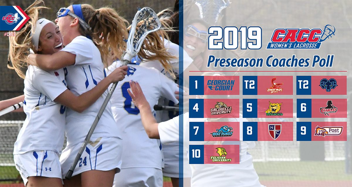 Two-Time Champ Georgian Court Right Back at the Top in 2019 CACC Women's Lacrosse Preseason Coaches Poll