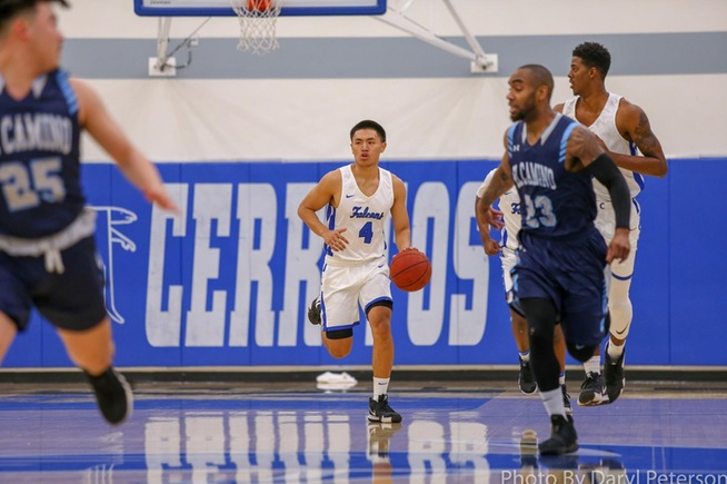 Jeremiah Galang (4) scored 14 points off the bench in the Falcons win