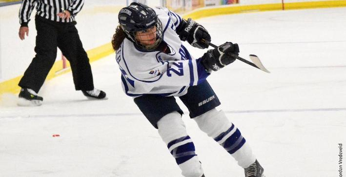 Women's Hockey season ends with overtime setback against Adrian
