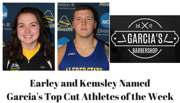 Lauren Earley and Paul Kemsley named Garcia's Top Cut Athlete of Week