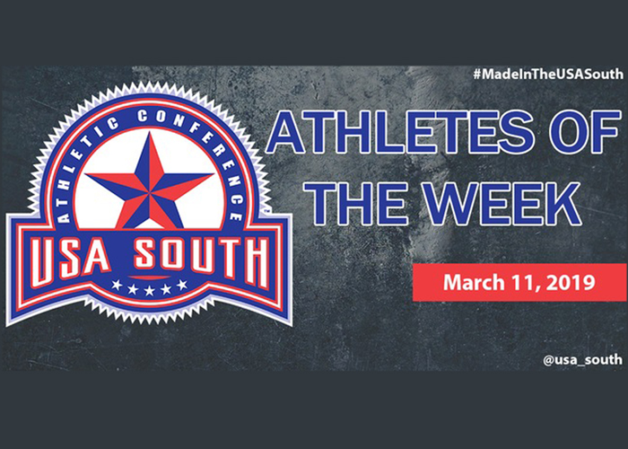 Hitt and Duke earn USA South Athlete of the Week recognition