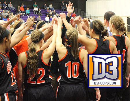 Women's Basketball drops four spots to No. 15 in seventh weekly D3hoops.com Poll