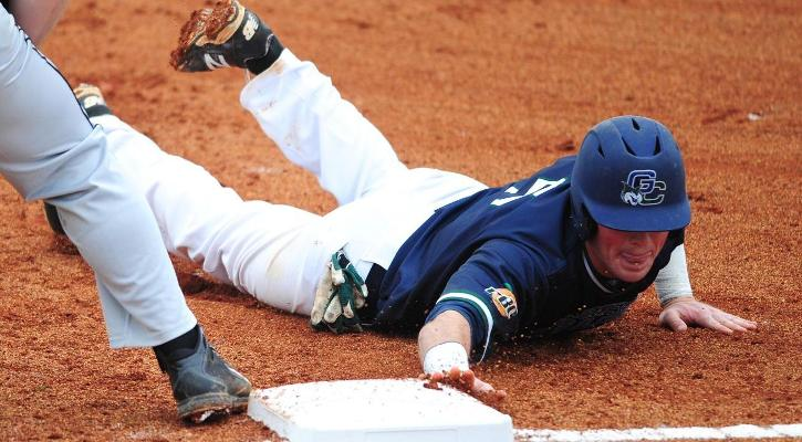 Busby Gem Helps GC Baseball Sweep Francis Marion, 8-5 and 6-1