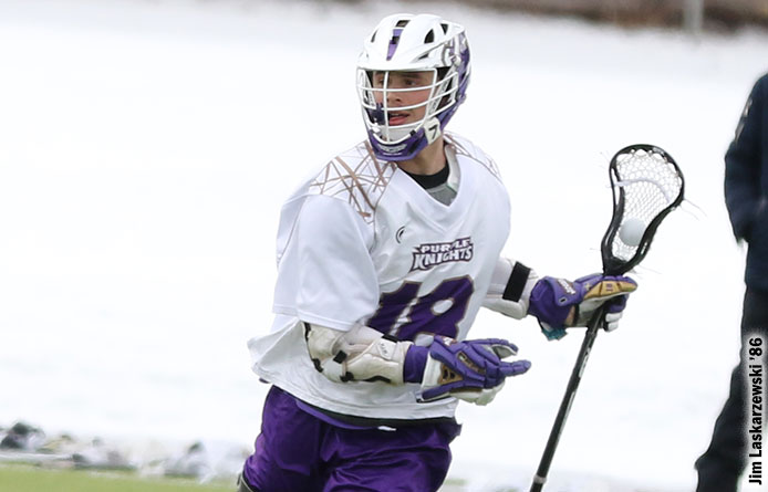 Loughlin's Eight-Point Day Helps Men's Lacrosse Down Post