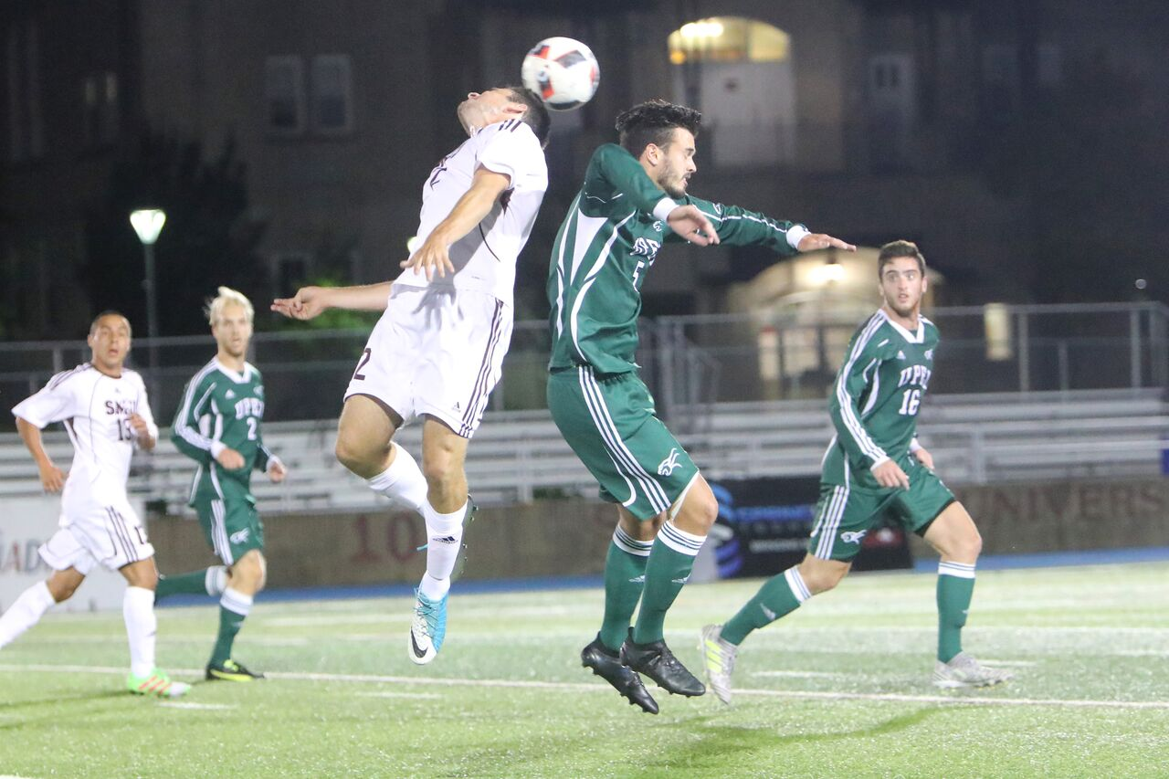 Huskies net two late goals and knock off UPEI 2-0