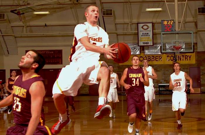 Senior guard Brandon Giese had a game-high 17 points to help the Cobbers post their fourth straight season-opening win.