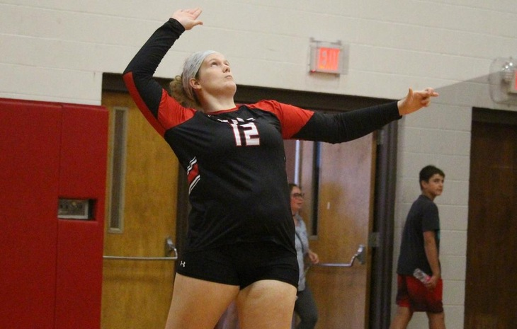 Women's Volleyball Triumphs 3-0 at Mitchell Tuesday