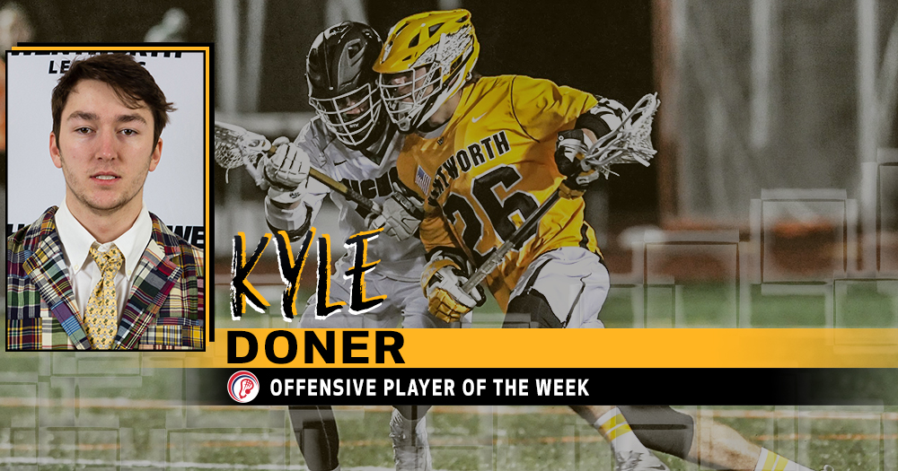 Doner Named CCC Offensive Player of the Week