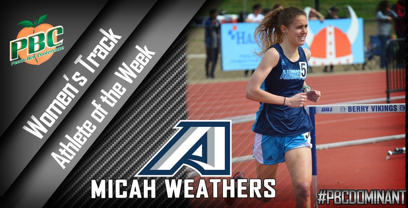 Weathers Wins Second PBC Track Athlete Of The Week Award This Season