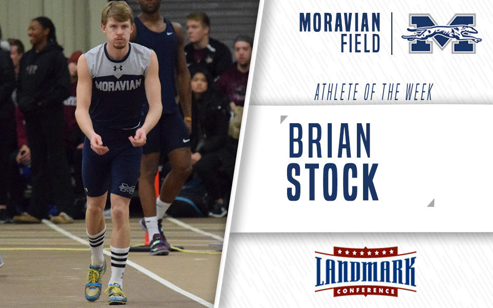 Senior Brian Stock selected as Landmark Conference Men's Field Athlete of the Week