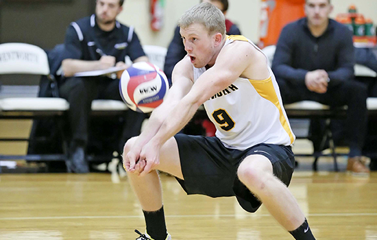 Men's Volleyball Defeats Lasell, Moves Into First Place in GNAC