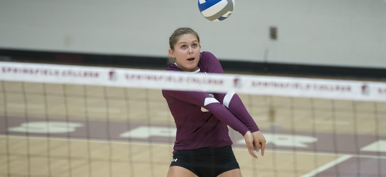 Women's Volleyball Surges By Endicott In Four Sets