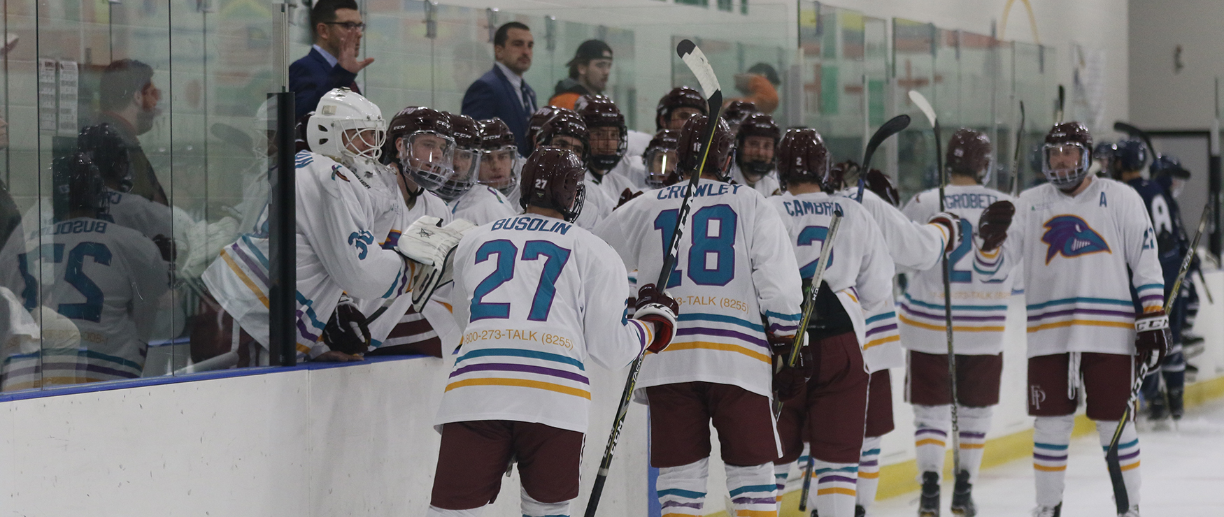 Men's Ice Hockey Stuns Saint Anselm, 5-3
