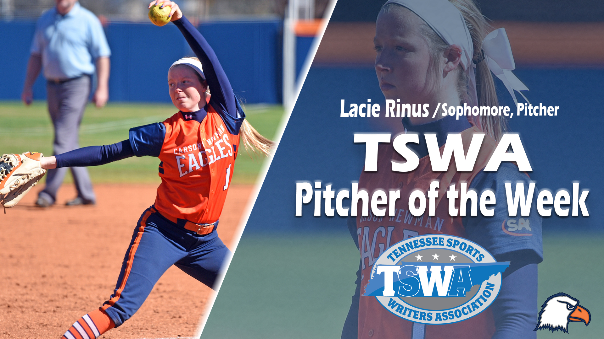 Pitcher of the Week plaudit number four, Rinus honored by TSWA