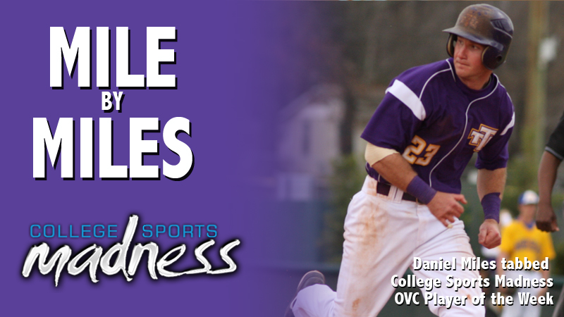 Miles tabbed College Sports Madness OVC Player of the Week
