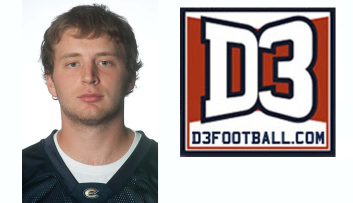 Mitch Olson Named to D3football.com Team of the Week