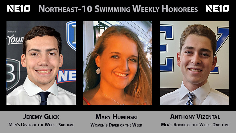 Bentley Swimmers and Divers Receive Weekly Honors from Northeast-10