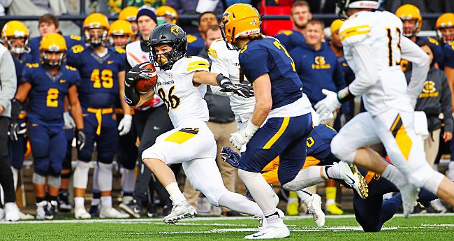 Chris Hess rushed seven times for 96 yards, including a 53-yard sprint in the second quarter.