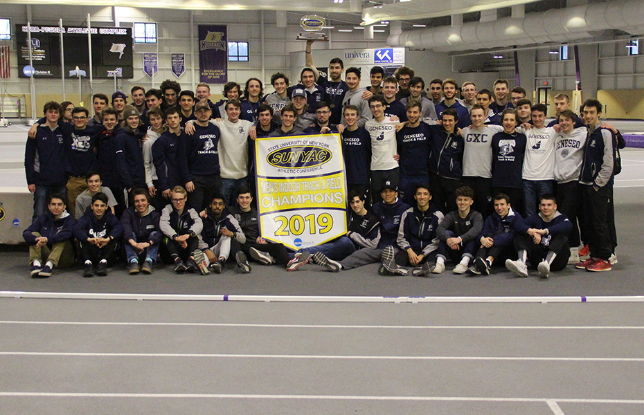Geneseo wins 2019 men's indoor track and field title