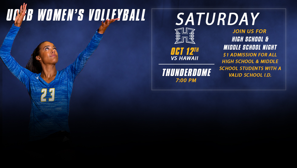 High School & Middle School Night this Saturday as UCSB Clashes with No. 19 Hawaii