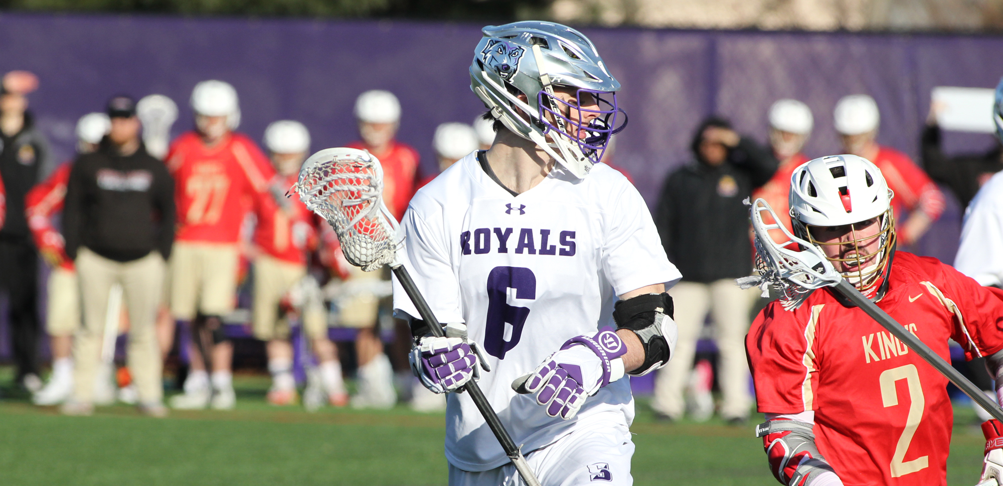 Junior Connor Kirkwood scored three goals and added an assist on Saturday as Scranton defeated Plattsburgh, 11-10. © Photo by Timothy R. Dougherty / doubleeaglephotography.com