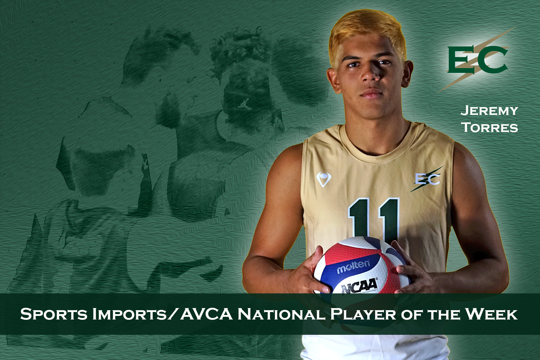 Jeremy Torres Selected As AVCA National Player Of The Week