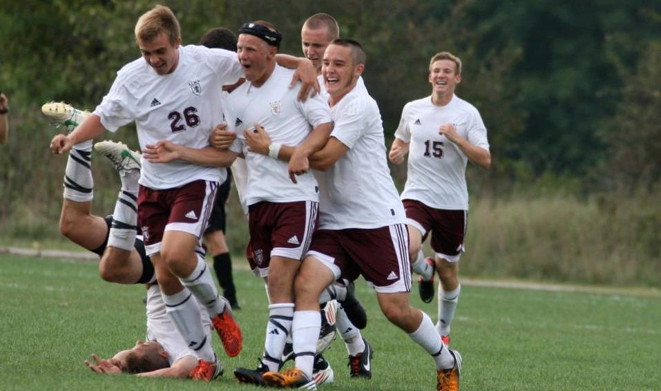 Alma Men's Soccer earns a 2-1 win over Defiance in two overtimes on Sunday afternoon