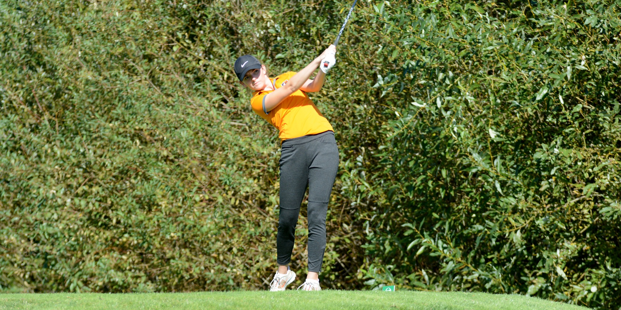 Burke, Pios sit in fourth after opening round of NWC Spring Classic