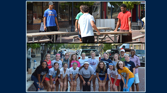 Blue Jay Student-Athletes Help Community