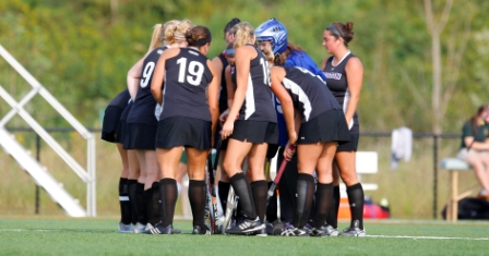 The University of Scranton field hockey team defeated 19th-ranked Catholic, 1-0 in overtime, on Saturday.