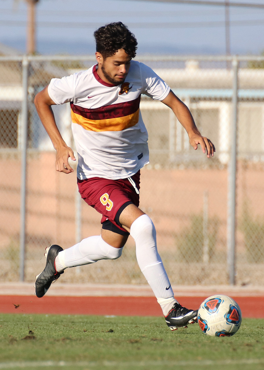 David Vazquez-Mena scored PCC's only goal in a 1-1 tie at Taft College on Friday.