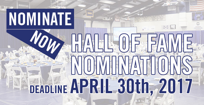 Nominations for 2017 Moravian Hall of Fame Class Due April 30