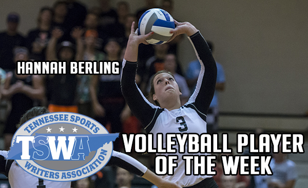 Berling named TSWA Volleyball Player of the Week