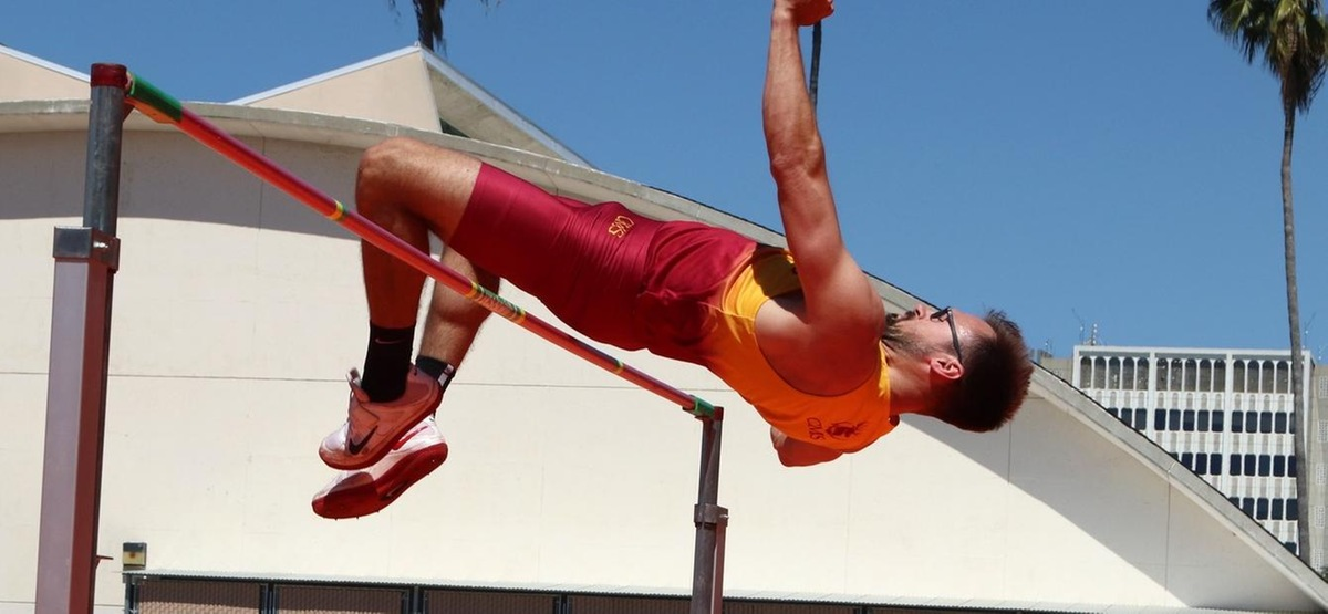 Senior Eric Myers is seeded fourth in the high jump for the Stags heading into the SCIAC Championships
