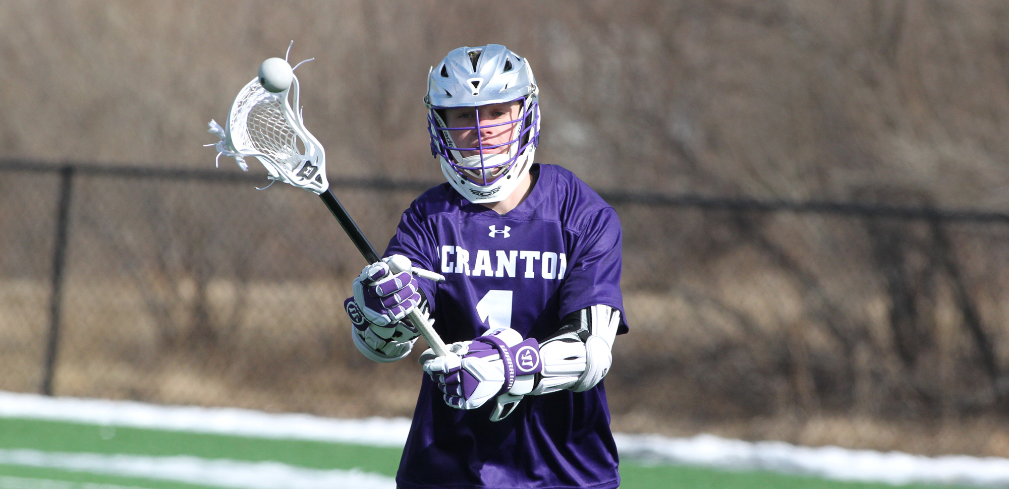 Freshman Cole Lukasiewicz recorded a season-high five points on four goals and one assist in Scranton's win at Misericordia on Tuesday night. © Photo by Timothy R. Dougherty / doubleeaglephotography.com
