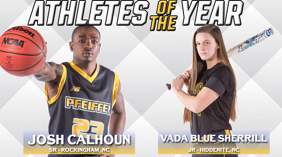 Calhoun and Sherrill Named Male and Female Athletes of the Year