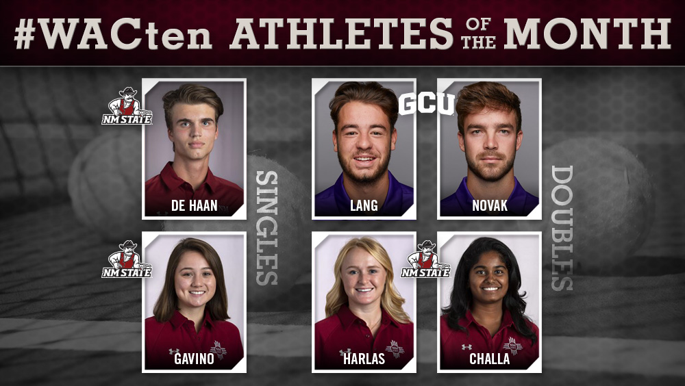 WAC Tennis Athletes of the Month Announced