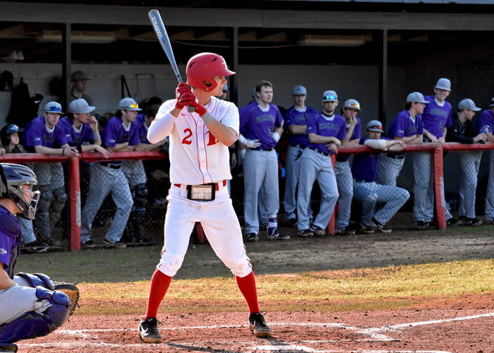 Freshman Colton Clark was 3-for-7 with three RBIs and two runs in Saturday's doubleheader with Averett.