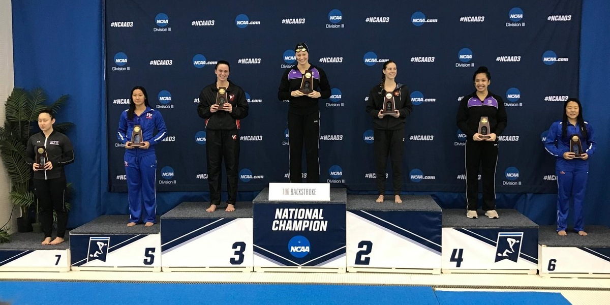 Caroline Murphy placed third in the 100 backstroke to earn All-American honors.