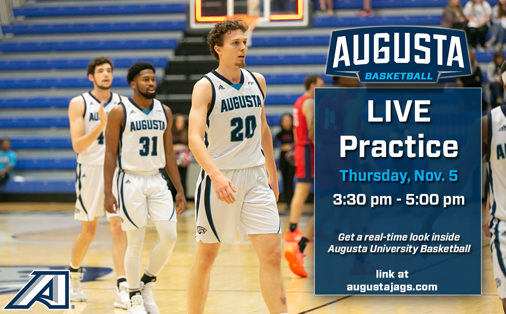 Augusta Men's Basketball Set to Stream Live Practice Nov. 5th