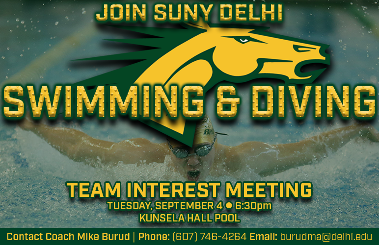 Swimming & Diving to Hold Interest Meeting Sept. 4