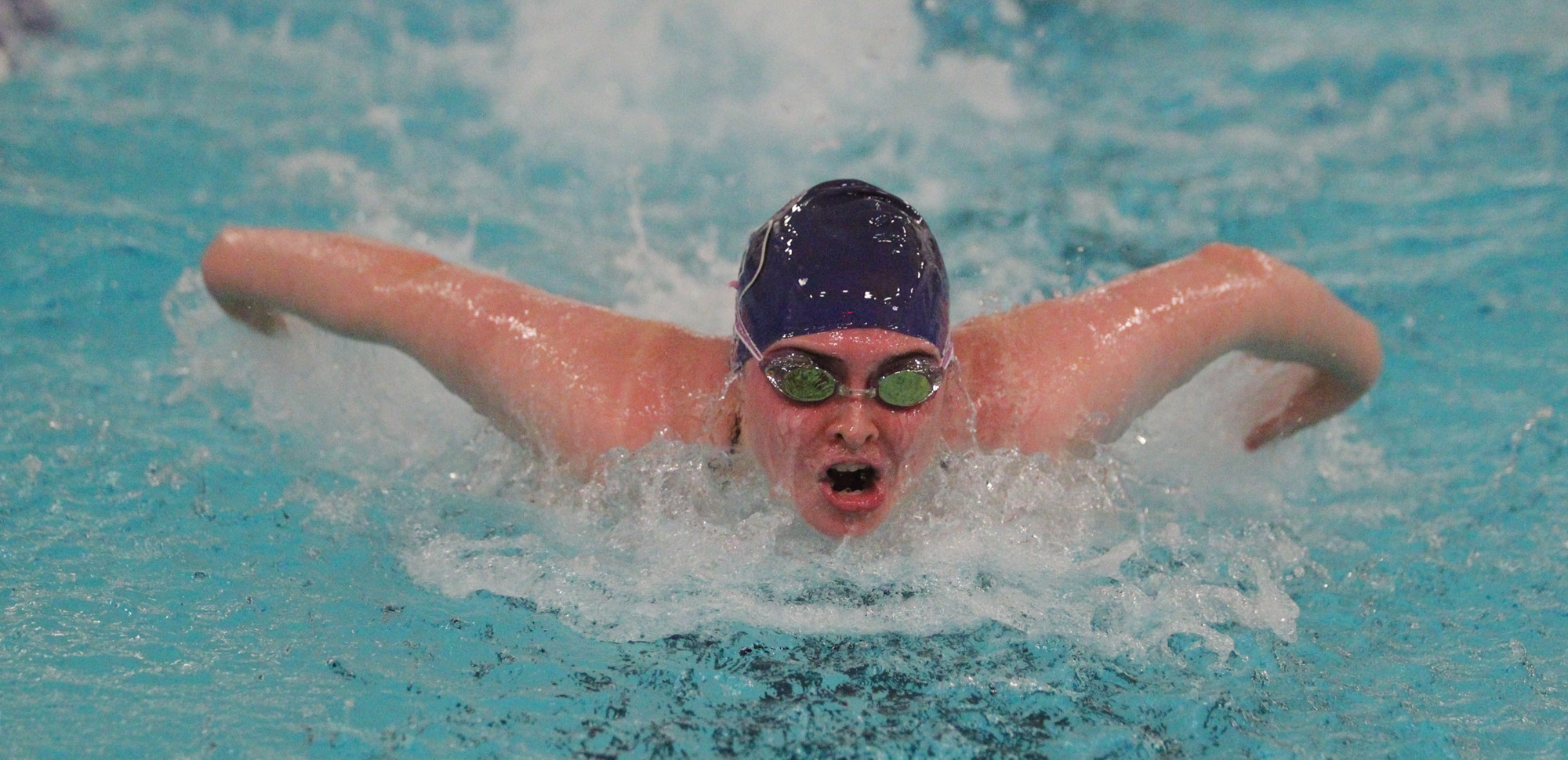 Sophomore Marycate O'Sullivan helped Scranton win a relay event, then won two individual events of her own to help the Royals win dual meets over Misericordia and Marywood on Friday evening.
